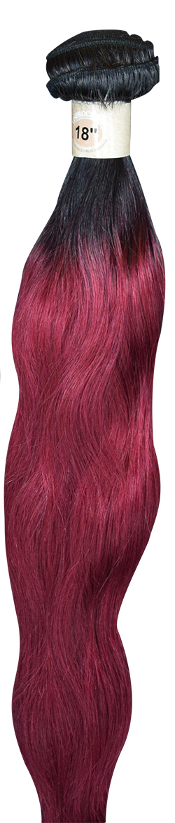 Brazilian Ombre Black Burgandy
