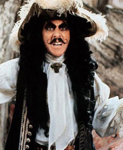 Captain Hook Fake Moustache