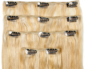 how to cut and sew clips on hair extensions