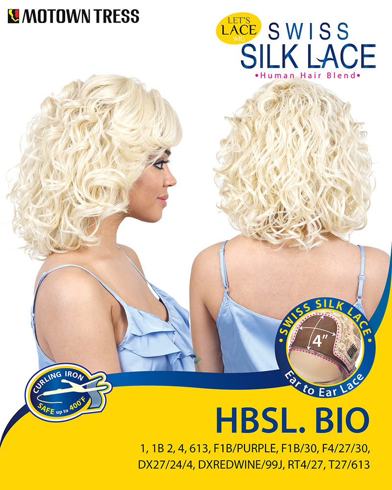 Image of the HBSL Bio Human Hair Blend Wig by Motown Tress