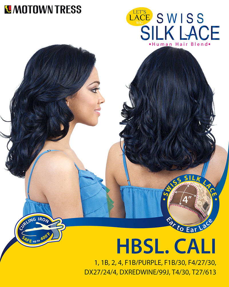 Image of the HBSL Cali Human Hair Blend Wig by Motown Tress