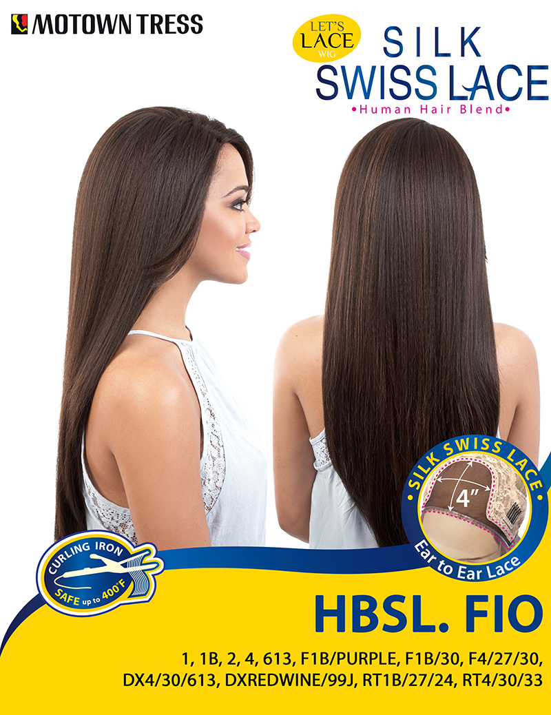 Image of the HBSL Fio Human Hair Blend Wig by Motown Tress