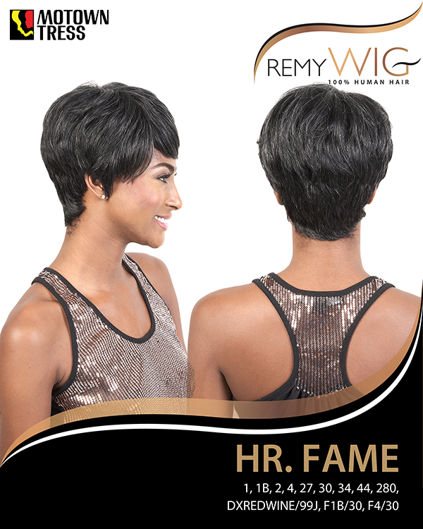 Image of the HR Fame Short Wig by Motown Tress
