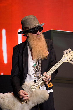 Full Long Fake Beard ZZ Top Style